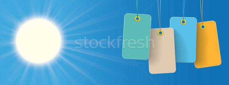 Sun Colored Price Stickers Header Stock photo © limbi007