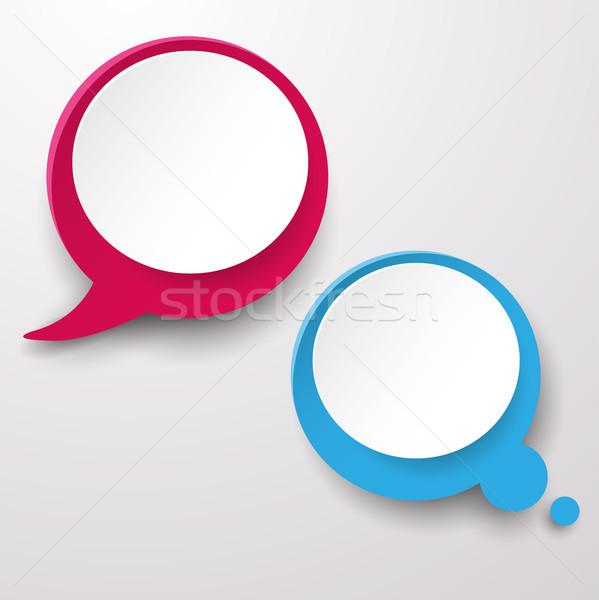 Speech and Thought Bubble Labels Stock photo © limbi007