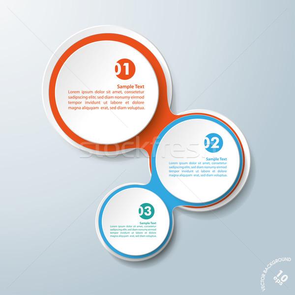 Projeto cadeias branco círculos Foto stock © limbi007