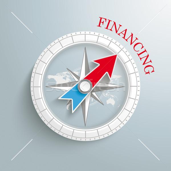 Iránytű finanszírozás fehér szürke eps 10 Stock fotó © limbi007