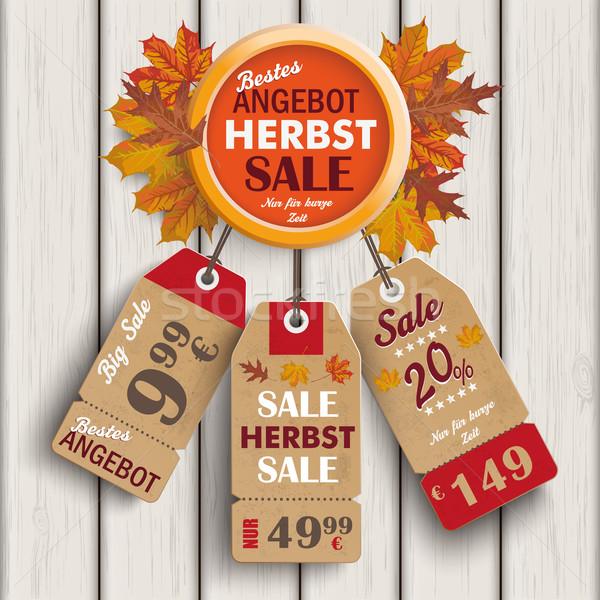 Autumn Ring Foliage Wood Price Stickers Angebot Stock photo © limbi007