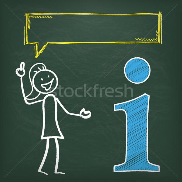Lousa informações balão de fala símbolo eps 10 Foto stock © limbi007