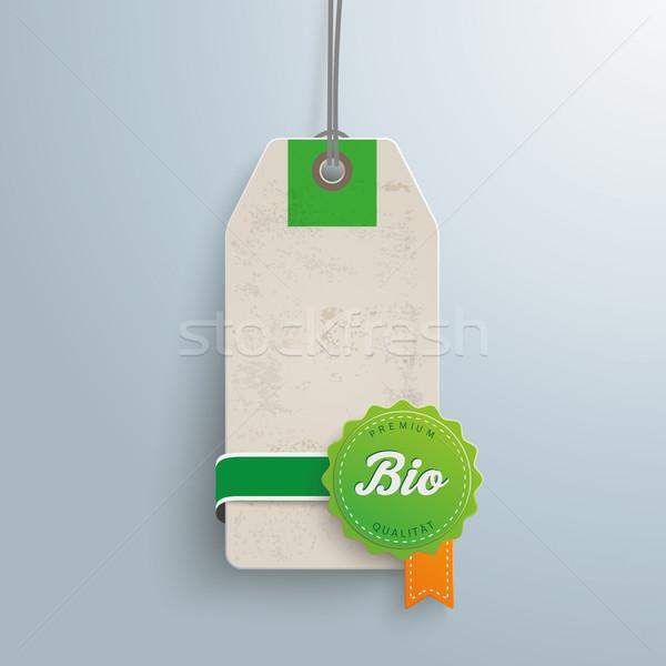Biyo fiyat etiket metin prim kalite Stok fotoğraf © limbi007