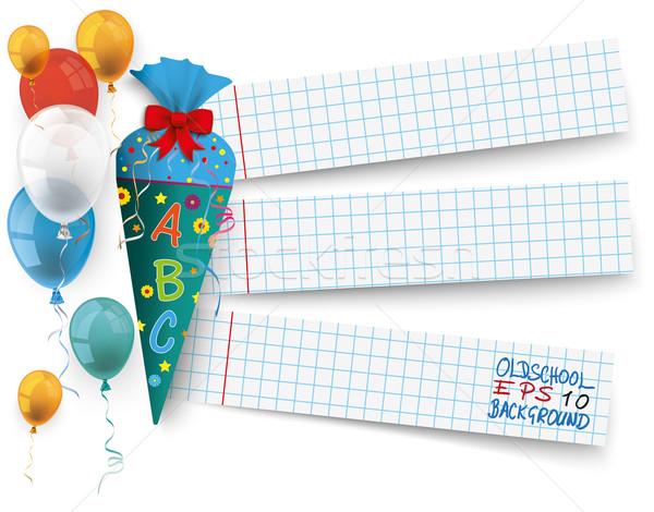 Dulces papel globos escuela banners eps Foto stock © limbi007