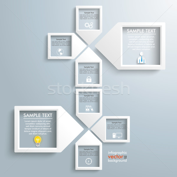 Paper Arrow Frames Solution Infographic Timeline Stock photo © limbi007