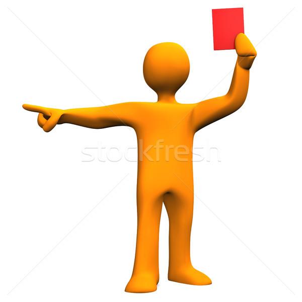 Arbitro rosso carta arancione donna Foto d'archivio © limbi007