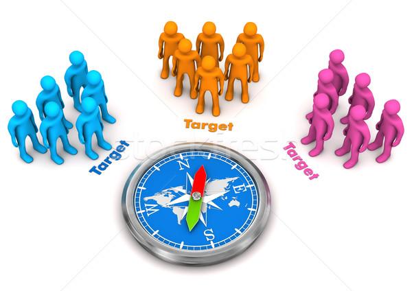 Target Audience Compass Stock photo © limbi007
