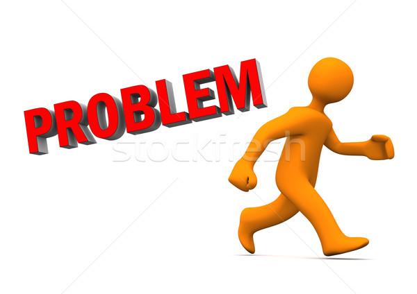 Problem Run Away Stock photo © limbi007