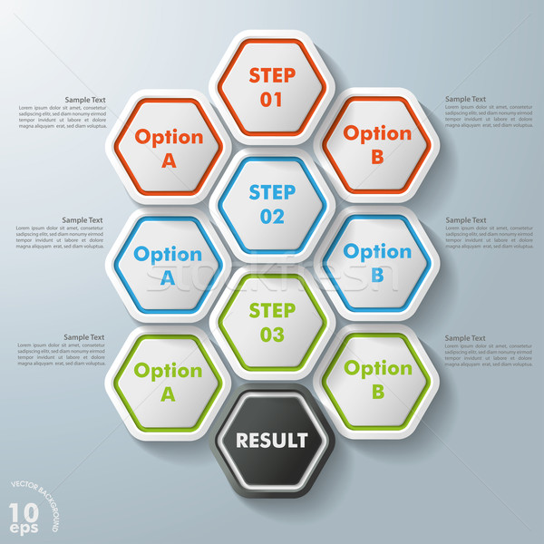 10 Hexagon Options Stock photo © limbi007