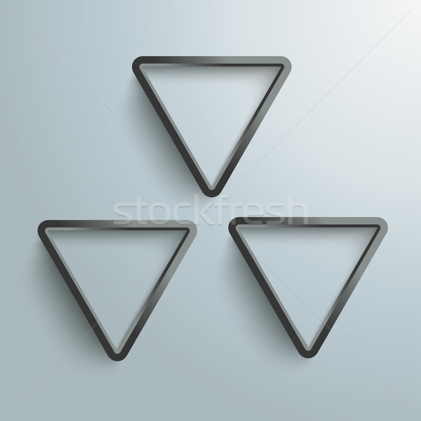 üç siyah radyoaktif gri eps 10 Stok fotoğraf © limbi007
