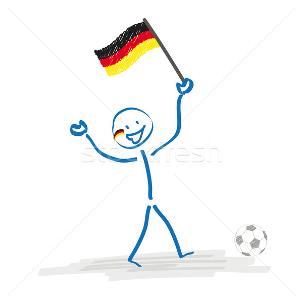 Stickman German Football Fan Stock photo © limbi007