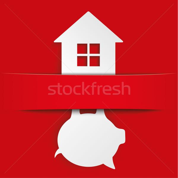 Piggy Bank House Banner Stock photo © limbi007