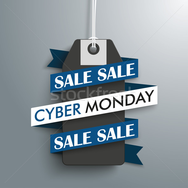 Cyber Monday Sale Price Sticker Ribbon Stock photo © limbi007