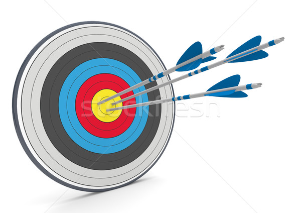 Stock photo: Target 3 Arrows