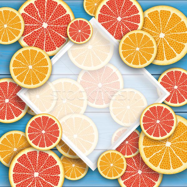 синий древесины грейпфрут оранжевый плодов кадр Сток-фото © limbi007