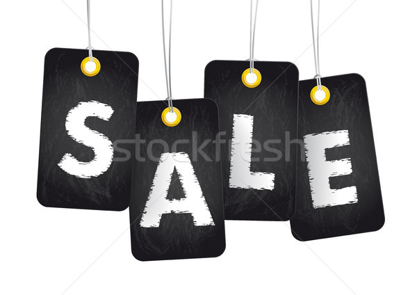 4 Blackboard Price Stickers Sale Stock photo © limbi007