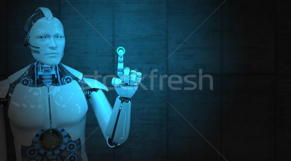 Stock photo: Robot Click Display