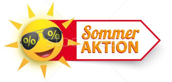 Sun Sunglasses Percents Sommer Aktion Stock photo © limbi007