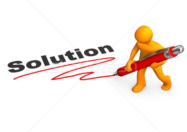 Solution Manikin Ballpen Stock photo © limbi007