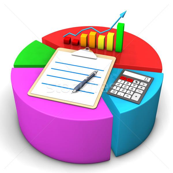 диаграмма буфер обмена калькулятор красочный диаграммы бизнеса Сток-фото © limbi007