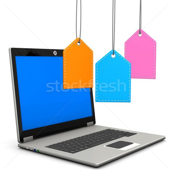 Laptop Shopmarks Stock photo © limbi007