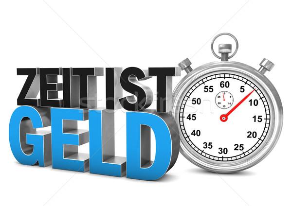 Время-деньги секундомер текста белый часы работу Сток-фото © limbi007