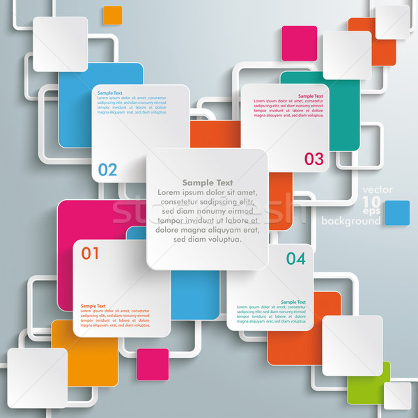 Colorido cruz diseno infografía rectángulo Foto stock © limbi007