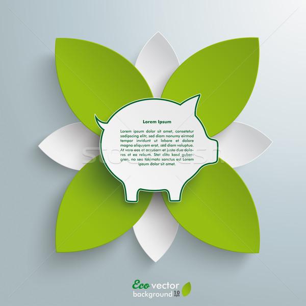 Eco salvadanaio verde fiore infografica design Foto d'archivio © limbi007