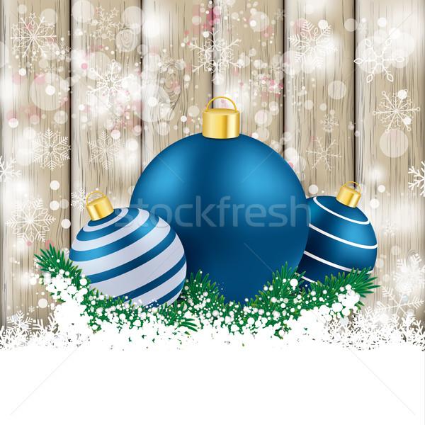 Nevadas ceniza azul nieve eps Foto stock © limbi007