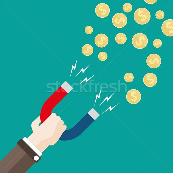 手 磁石 お金 ドル 人の手 コイン ストックフォト © limbi007