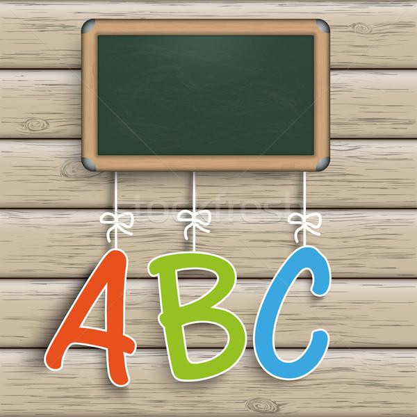 Blackboard Wood ABC Stock photo © limbi007