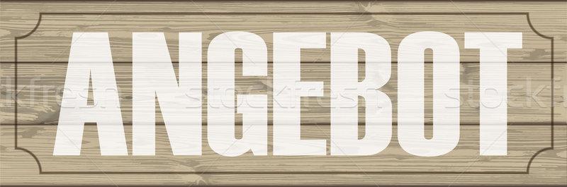 Wooden Planks Header Angebot Stock photo © limbi007