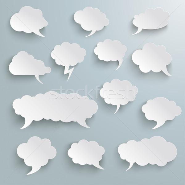 Chmury zestaw szary eps 10 Zdjęcia stock © limbi007