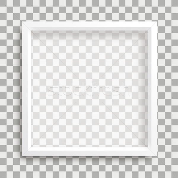 Big White Frame Shadows Transparent Stock photo © limbi007