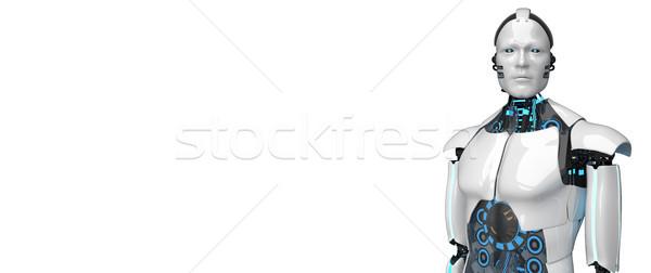 White Robot Side Stock photo © limbi007