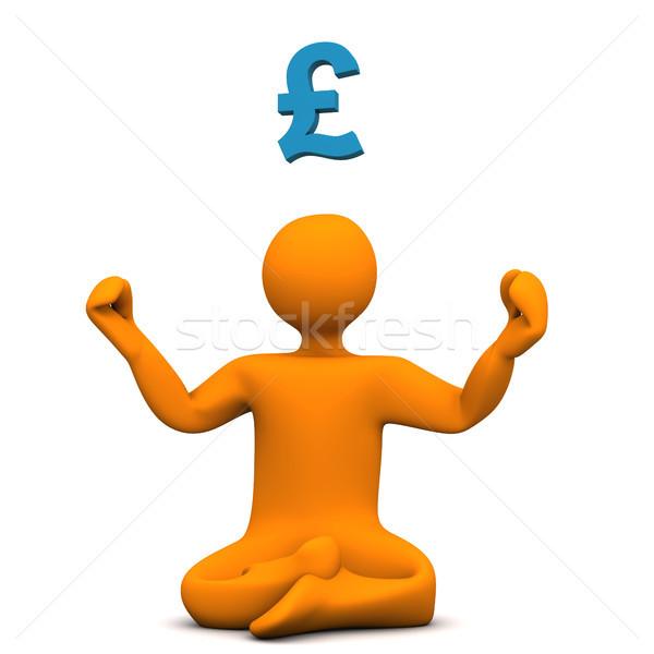 Yoga livre orange poste symbole Photo stock © limbi007
