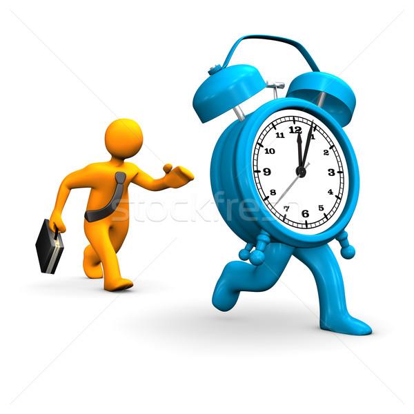 Empresário laranja grande azul relógio Foto stock © limbi007