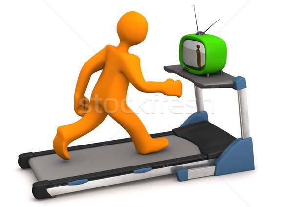 Treadmill TV Stock photo © limbi007