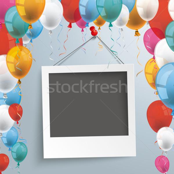 Balloons Instant Photo Stock photo © limbi007