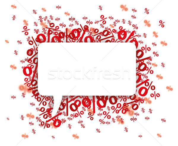 Papier tekstballon Rood banner witte eps Stockfoto © limbi007