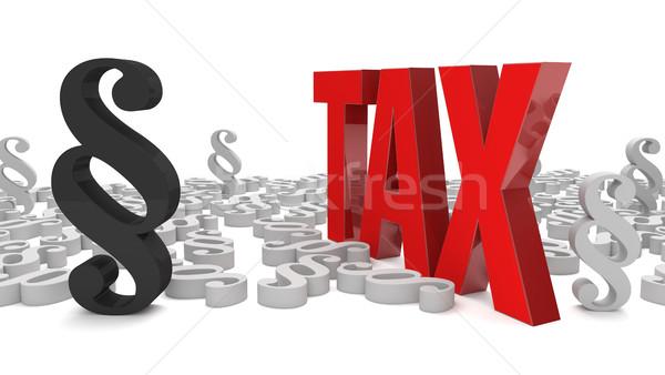 Paragraph Tax Stock photo © limbi007