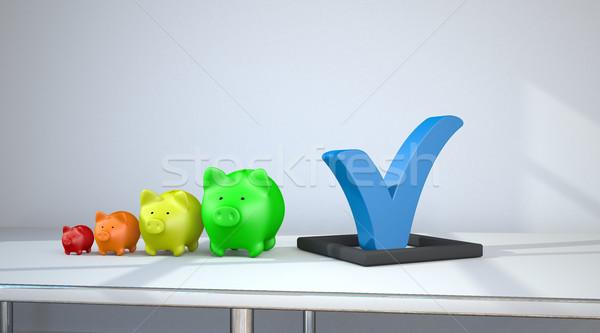 Сток-фото: Банки · роста · синий