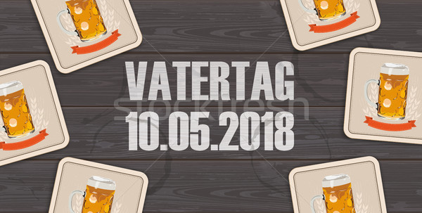 Dark Wooden Background Beer Vatertag 10 May Stock photo © limbi007