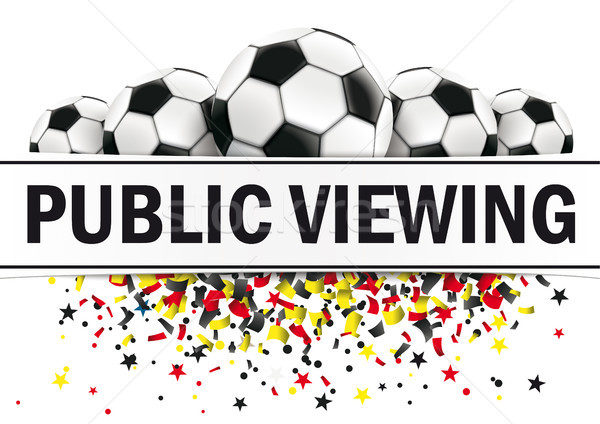 Banner Classic Footballs Germany Public Viewing Stock photo © limbi007