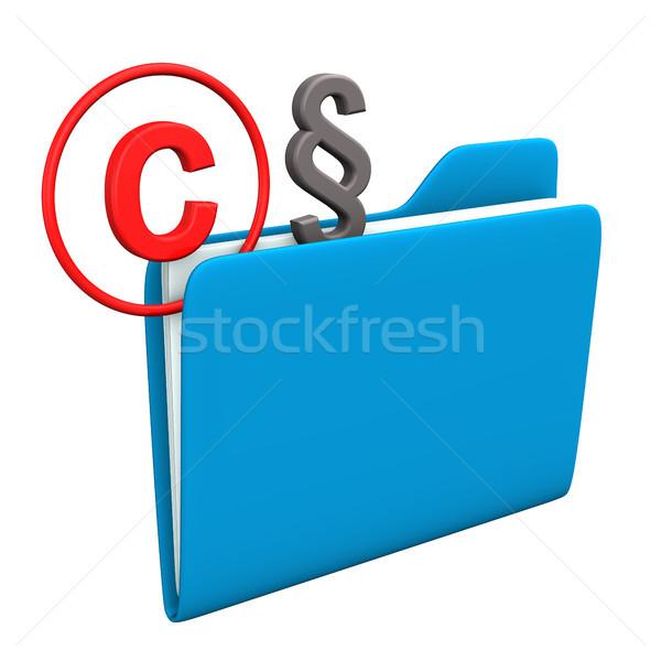 フォルダ 著作権 段落 シンボル インターネット 法 ストックフォト © limbi007