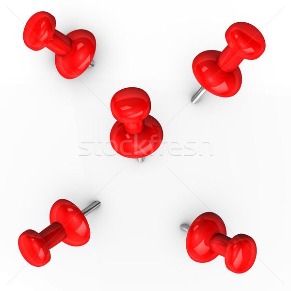 Red Thumbtacks Stock photo © limbi007