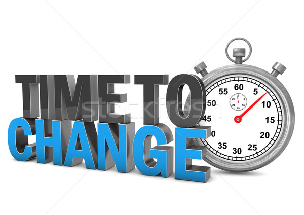 Time To Change Stopwatch Stock photo © limbi007