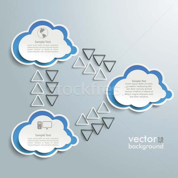 Three Connected Clouds Infographic Stock photo © limbi007