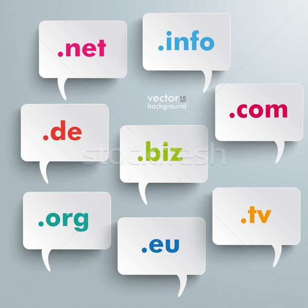 Domain Speech Bubbles Stock photo © limbi007