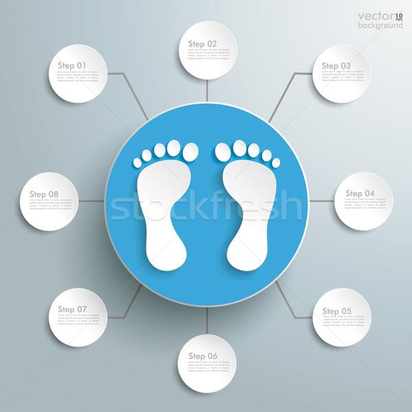 Feet Blue Circle 8 Options Stock photo © limbi007